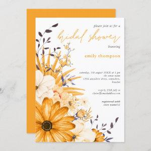 Yellow Gray Watercolor Floral Script Bridal Shower Invitation starting at 2.45