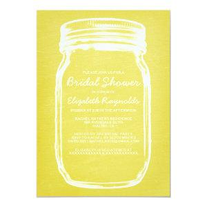 Yellow Mason Jar Bridal Shower Invitations starting at 2.66