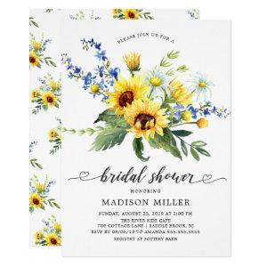 Yellow Sunflower Bridal Shower Invitation starting at 2.15