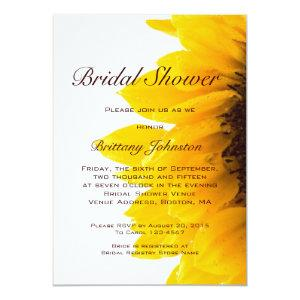 Yellow Sunflower Modern Bridal Shower Invitation starting at 2.61
