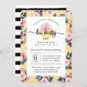 Yellow Teacup Tea Party Bridal Shower Invitation starting at 2.75