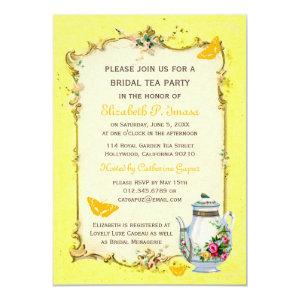 Yellow Vintage French Bridal Tea Party Invitation starting at 2.51