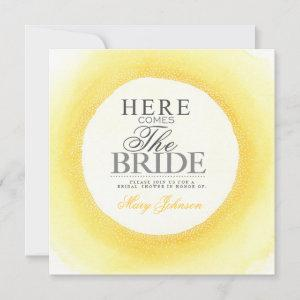Yellow Watercolor Bridal Shower Party Invite starting at 2.67