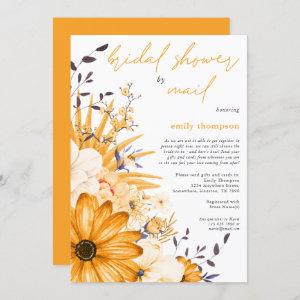 Yellow Watercolor Floral Bridal Shower by Mail Invitation starting at 2.45