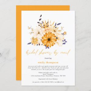 Yellow Watercolor Florals Bridal Shower by Mail Invitation starting at 2.45