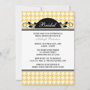 Yellow White Houndstooth Bridal Shower Invitations starting at 2.92