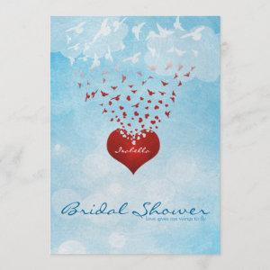 Your Love Gives Me Wings Bridal Shower Invitation starting at 2.61